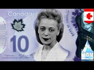 Viola David ten dollar Canadian bill